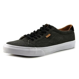 Vans Court Men  Round Toe Canvas Black Tennis Shoe