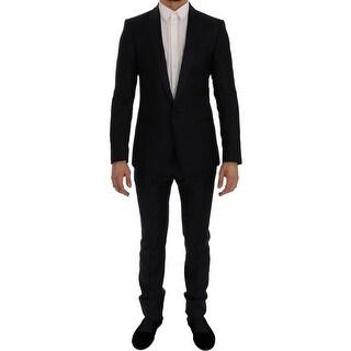 Dolce & Gabbana Blue Fantasy One Button MARTINI Slim Suit