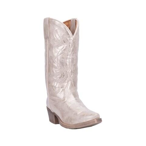"Dingo Western Boots Womens Kyla 11"" Shaft Snip Toe White"