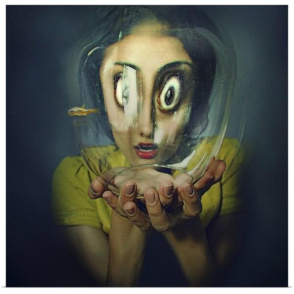 """Fishbowl Face"" Poster Print"