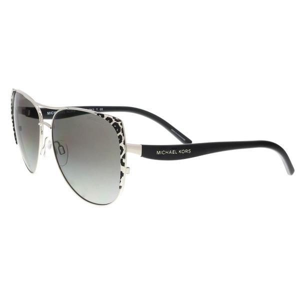 43a96b9b6bbd Shop Michael Kors MK 1005 105911 2N SADIE I Silver/Cheetah Round Sunglasses  - 59-15-135 - Free Shipping Today - Overstock - 19430950