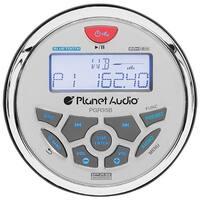 "Planet Round Marine Radio (3.5"" Diameter) Bluetooth Rear Aux Input Am/Fm Rear Charging Usb"