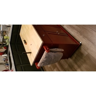 Simple Living Red Sonoma Kitchen Cart