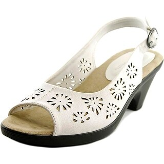 Easy Street Kaley Women WW Open-Toe Synthetic White Slingback Heel