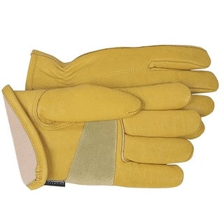 Boss 7134L Men's Lined Deerskin Grain Leather Gloves, Large