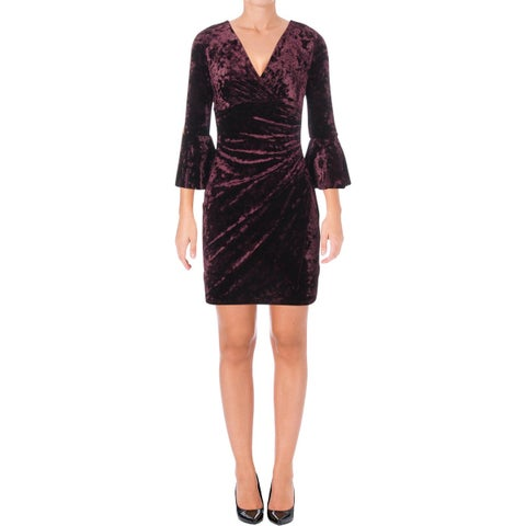 Lauren Ralph Lauren Womens Petites Party Dress Velvet Above Knee