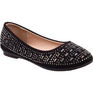 Kensie Girl Girls' KG79125M Studded Ballet Flat Black