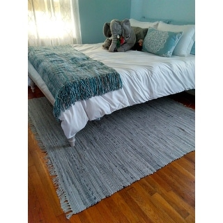 Safavieh Hand-woven Rag Rug Grey Cotton Rug - 6' x 6' Square