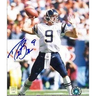 Drew Brees signed San Diego Chargers 8x10 Photo (white jersey pass)