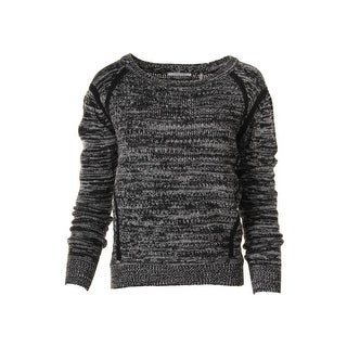 T Tahari Womens Wool Blend Marled Pullover Sweater - S