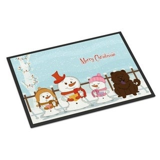 Carolines Treasures BB2472MAT Merry Christmas Carolers Chow Chow Chocolate Indoor or Outdoor Mat 18 x 0.25 x 27 in.