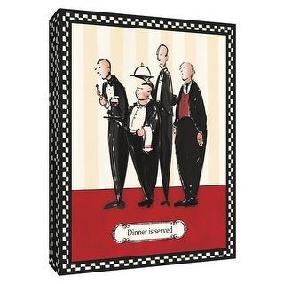 """PTM Images 9-154295  PTM Canvas Collection 10"""" x 8"""" - """"Dinner is Served"""" Giclee Men Textual Art Print on Canvas"""