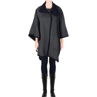 Joie Womens Wool Blend Poncho Sleeves Poncho - m/l