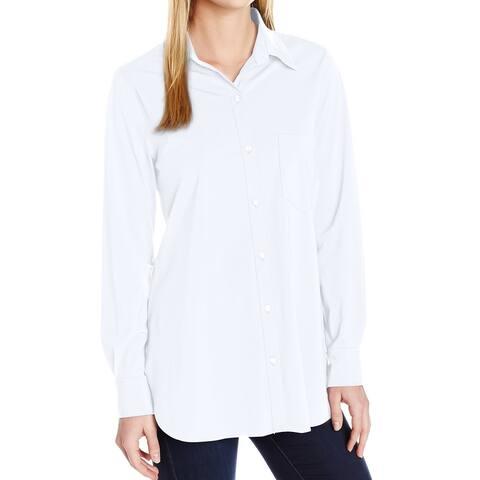Lysse Womens Bloyse White Size Small S Schiffer Button Down Shirt