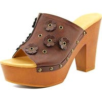 Dolce by Mojo Moxy Janis Studded Clog Women Espresso Clog Mules