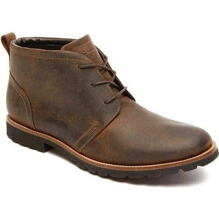Rockport Men's Charson Lace Up Ankle Boot Dark Brown Leather