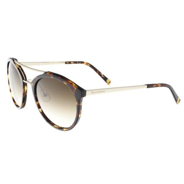602896a5760d9 Shop Juicy Couture - Juicy 578 S 86 Dark Havana Oval Sunglasses - On ...