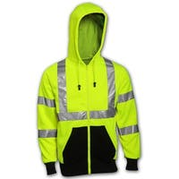Tingley S78122-XL ANSI/ISEA 107 Class 3 Compliant Sweatshirt, X-Large, Yellow/Green
