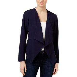 Kensie Womens Casual Blazer Asymmetric Open Front