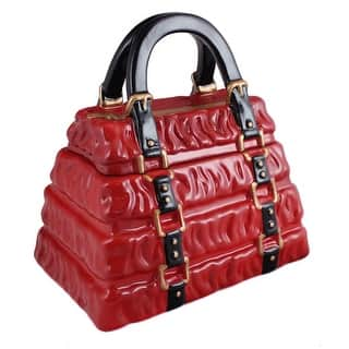 Neiman Marcus Red Pleated Handbag Cookie Jar|https://ak1.ostkcdn.com/images/products/is/images/direct/9d65f2046a668a952f5a8ffffcff1b17511b118c/Neiman-Marcus-Red-Pleated-Handbag-Cookie-Jar.jpg?impolicy=medium