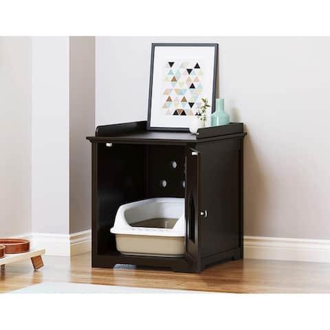 PAWLAND Decorative Cat House and Litter Box Enclosures,Cat Home, Indoor Pet Crate - Litter Box Enclosure