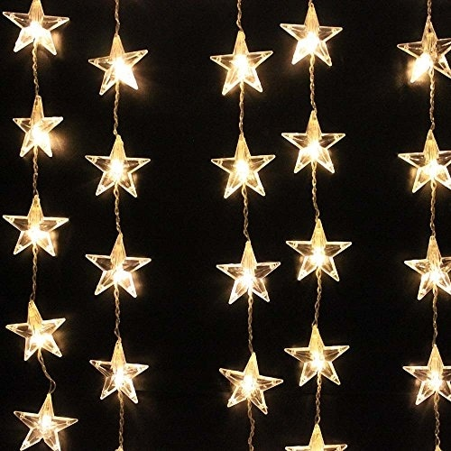 AGPtek 110V 1.5M(W) x 1M(H) Decorative LED Curtain Light 54 LED for Decoration Curtain