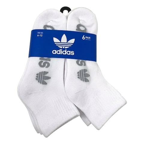 adidas Men's Originals Quarter Ankle Socks, 6 Pairs, (Shoe Size 6-12)