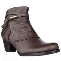 BareTraps Rhapsody Cross Strap Ankle Boots, Mushroom