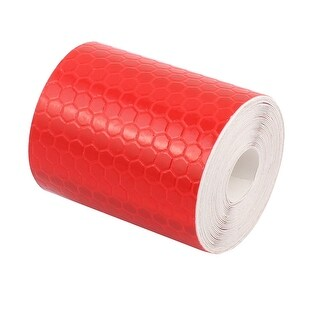 5cm x 2.5M Honeycomb Single Sided Adhesive Reflective Warning Tape Red White