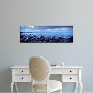 Easy Art Prints Panoramic Images's 'Beach at dusk, Westward Ho, North Devon, Devon, England' Premium Canvas Art
