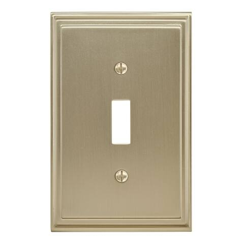 Mulholland 1 Toggle Golden Champagne Wall Plate - 1 Toggle