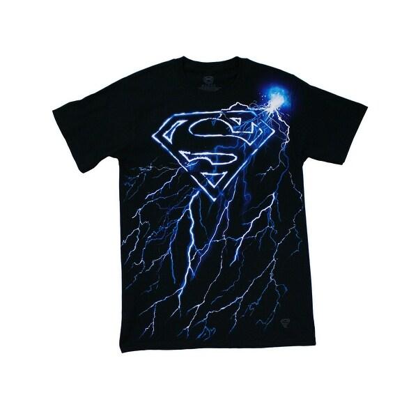b8f3df79 Superman Lightning Logo Men's T-Shirt