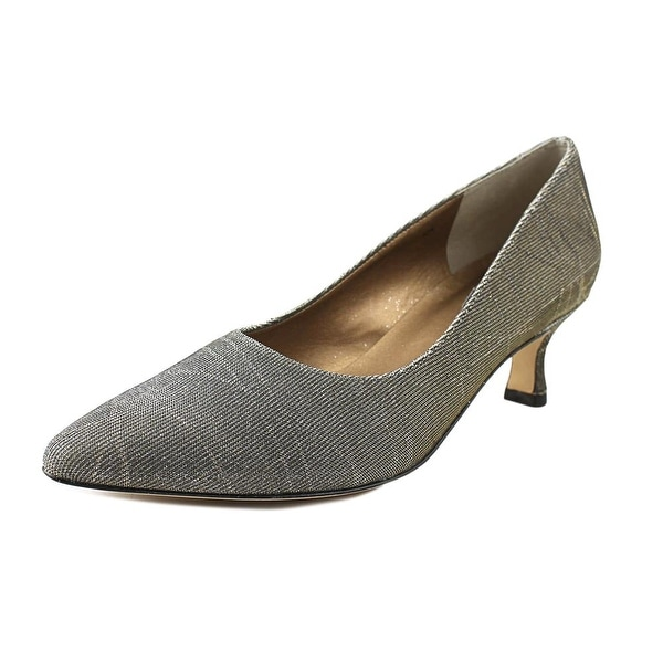 Vaneli Pagoda Women N/S Pointed Toe Canvas Gray Heels
