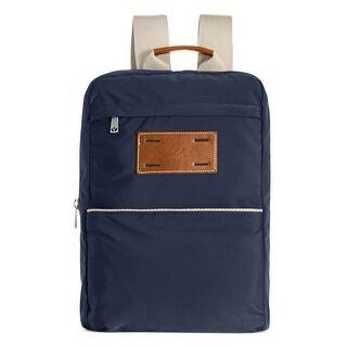 J. Fold Mens Montreal Nylon Backpack Navy Blue