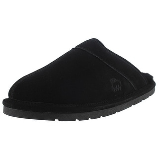Lamo Mens Clog Slippers Suede Wool Lined - M