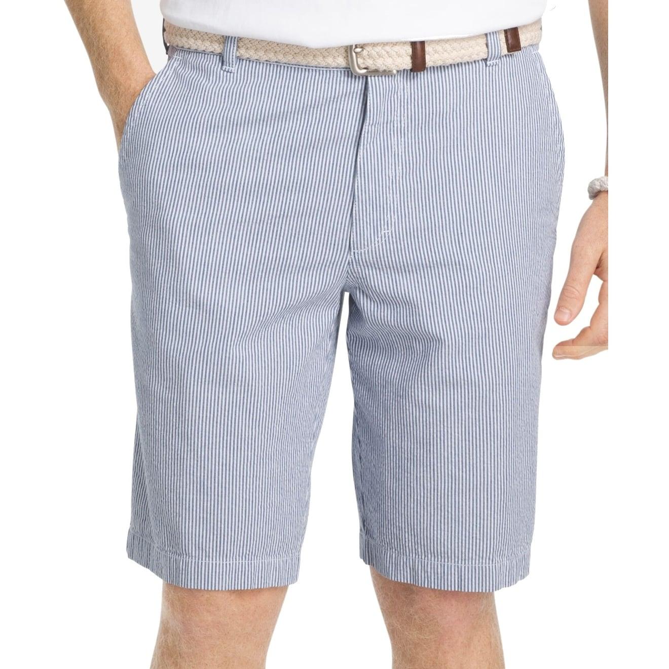 Shop Izod Blue Mens Size 40 Casual Striped Seersucker Shorts