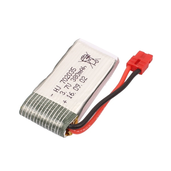 3.7V 380mAh Charging Lithium Polymer Li-po Battery JST-2P for RC Airplane
