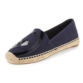 Tory Burch Navy Blue Lonnie Canvas Espradille Shoes Size 5.5