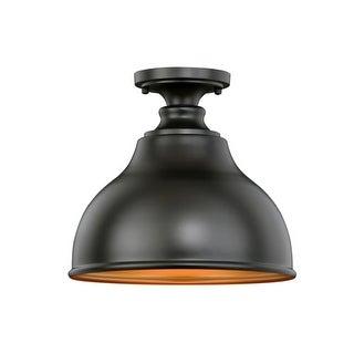 "Vaxcel Lighting T0315 Delano Single Light 11"" Wide Outdoor Semi-Flush Ceiling Fi"
