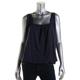 Catherine Malandrino Womens Pleated Sleeveless Knit Top - S