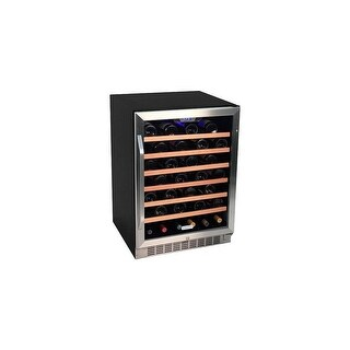 "EdgeStar CWR531SZ 24"" Wide 53 Bottle Built-In Wine Cooler - STAINLESS STEEL - N/A"