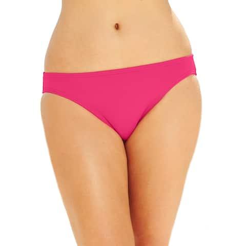 MICHAEL Michael Kors Women's Solid Hipster Bikini Bottom (Pink, L)