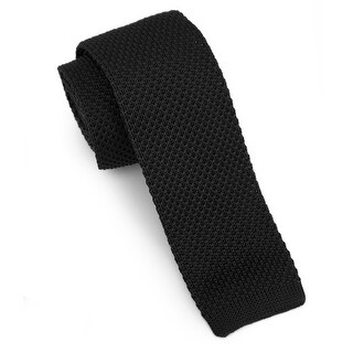 "Men's 2"" Knit Black Tie"