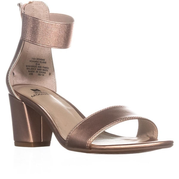 White Mountain Elinie Ankle Strap Dress Sandals, Rose Gold