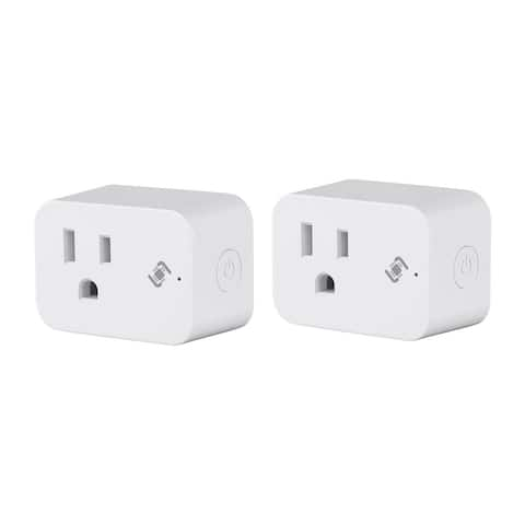 Monoprice Wireless Smart Plug Mini (2-Pk) With Energy Monitoring & Reporting