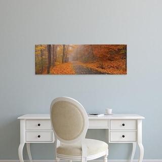 Easy Art Prints Panoramic Images's 'Autumn Road, Monadnock Mountain, New Hampshire, USA' Premium Canvas Art