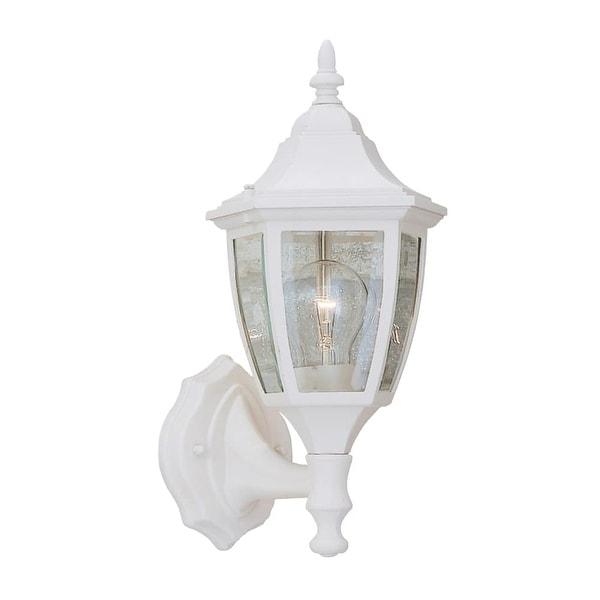 "Designers Fountain 2462-WH 1-Light 7"" Cast Aluminum Wall Lantern - White - n/a"