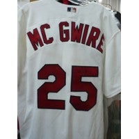 Signed McGwire Mark St Louis Cardinals Authentic St Louis Cardinals Jersey Size 48 autographed