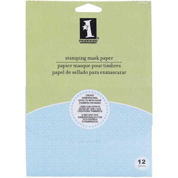 """Inkadinkado Stamping Mask Paper 7""""X5"""" 12/Pkg-"""