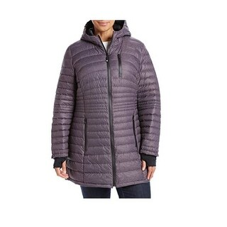 HFX Halifax Black Berry Plus Size Packable Down Jacket